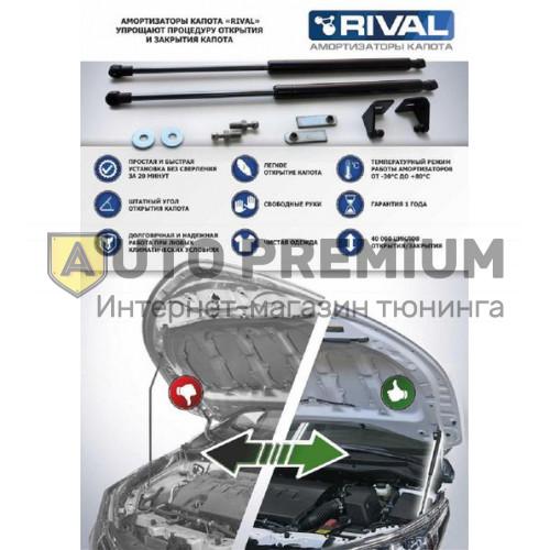 Амортизаторы (упоры) капота «Rival» для Kia Ceed III 2018-2019